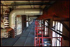 Brikettfabrik Knappenrode -Blick in die Trockenhalle