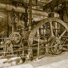 Brikettpresse mit Dampfantrieb