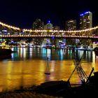 brisbane city with night lights