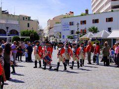 British military parade on Gibraltar