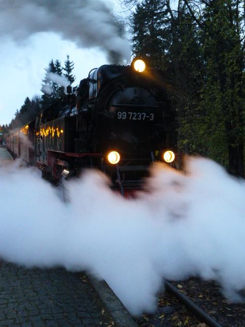 "Brockenbahn am Bahnhof ""Drei Annen"" IV"
