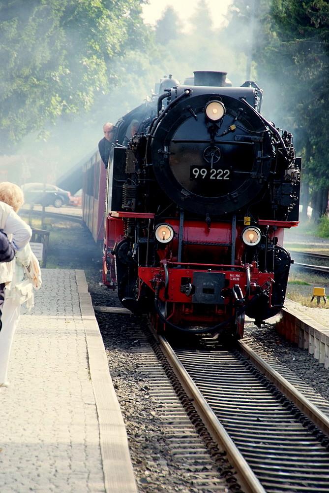 """Brockenbahn """"Einfahrt in drei Annen Hohne"""""""