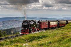 Brockenbahn kurz vor dem Gipfel !
