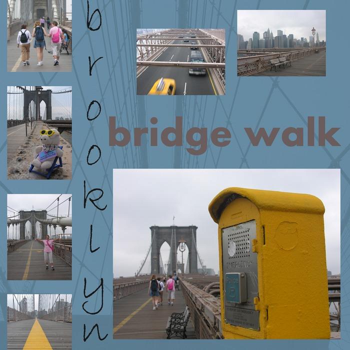 brooklyn bridge walk I