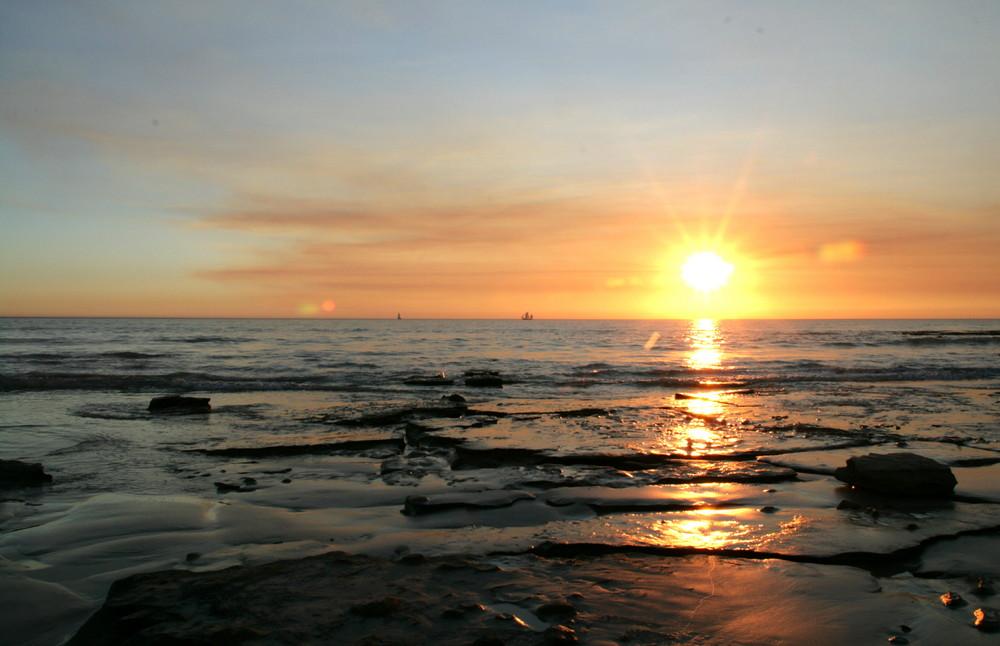 Broome ist ja bekannt für seine Sonnenuntergänge...