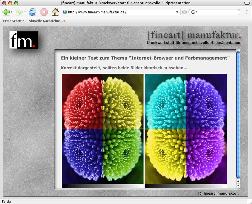 Browser und Farbmanagement: Internet Explorer, Firefox und Co.