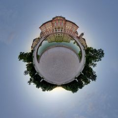 Bruchsal Schloss Gartenseite 1