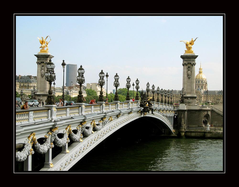 Brücke Alexander III. in Paris / Frankreich