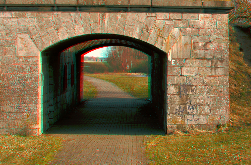 Brücke Dömitz Durchgang 3D