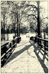Brücke durch den Winter