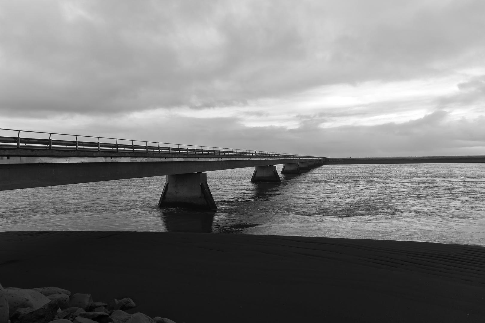 Brücke Fluss Ölfusá Iceland