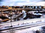 Brücke im Schnee ( HDR )