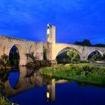 Brücke in Besalu, Pont of Besalu, Puente en Besalu  (E 1513),
