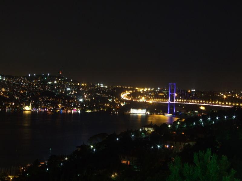 Brücke über den Bosporus, Istanbul - blau
