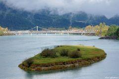 Brücke über den Columbia River in Revelstoke