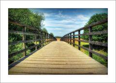 Brücke über die Roer in der Gemeinde Roerdalen ...