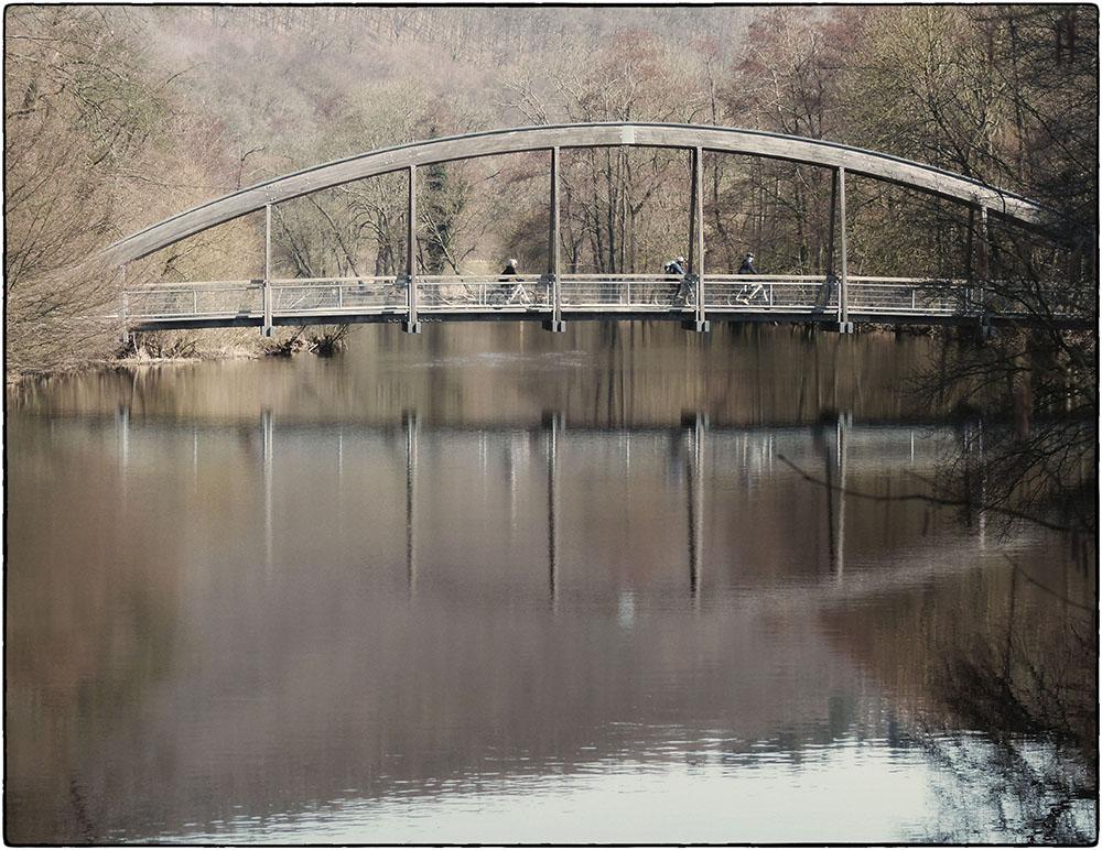 Brücke über die Rur bei Obermaubach