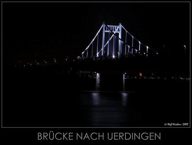 Brücke von Duisburg nach Uerdingen