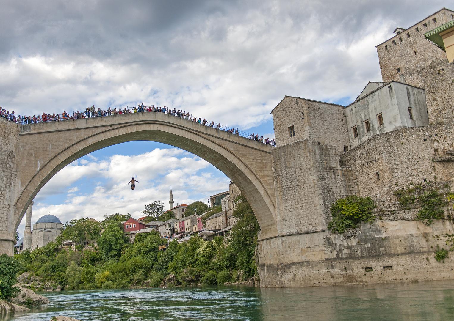 Brückenspringer in Mostar
