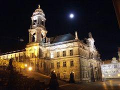 Brühlsche Terasse in Dresden nachts