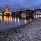 Brühlsche Terrasse Dresden mit Augustusbrücke