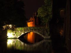 Bruges,Groenerei (Green Canal by night)