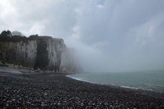 brume sur les côtes Normandes