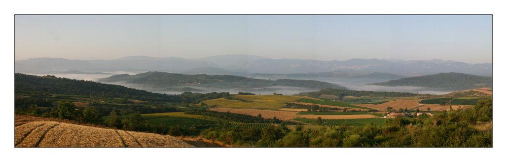 Brumes matinales dans l'Aude