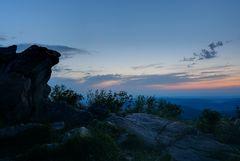 Brunhildisfelsen nach Sonnenuntergang