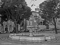 Brunnen beim Miradouro de São Pedro de Alcântara