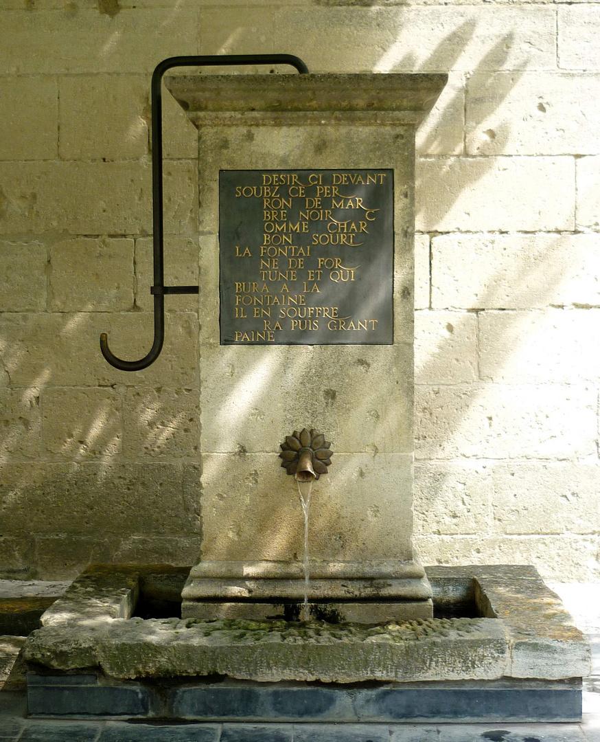 Brunnen - Chateau de Tarascon - Provence
