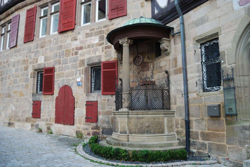 Brunnen der Sektkellerei Kessler in Esslingen
