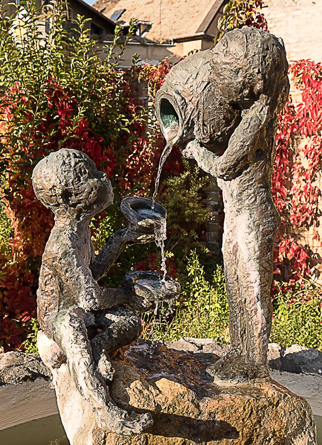 Brunnen in Klein-Winternheim Nähe Mainz.
