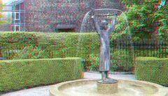 Brunnen vor der internationalen Schule....