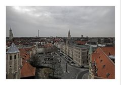 """Brunswick """" Blick vom Rathausturm, auf die Dächer von Braunschweig"""