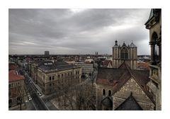 """Brunswick """" Blick vom Rathausturm, auf die Dächer von Braunschweig """""""