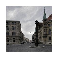 """Brunswick """"Blick vom Ruhfäutchenplatz, am frühen Morgen """""""