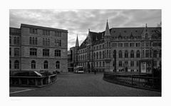 """Brunswick """" Blick zum neuen Rathaus, am Morgen """""""