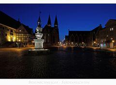 """Brunswick """" der Blick vom Altstadtmarkt auf dem Marienbrunnen....."""""""