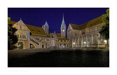 """Brunswick """" der Burgplatz, bei Nacht"""