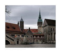 """Brunswick """" mit Blick auf die Burg, und das Rathaus """""""
