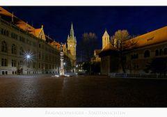"""Brunswick """" mit Blick auf die Burg, und dem Rathaus... """""""