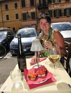Bruschetta und italienischer Riesling - Mittagspause in Trastevere