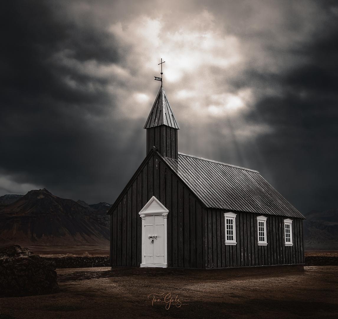 Búðakirkja - black church iceland