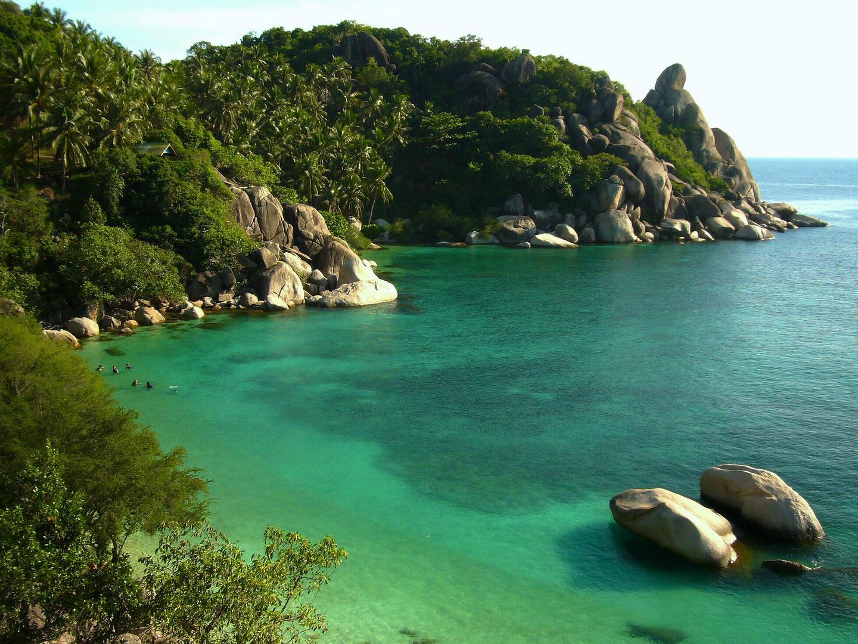 Bucht zum Tauchen auf der Insel Ko Tao.