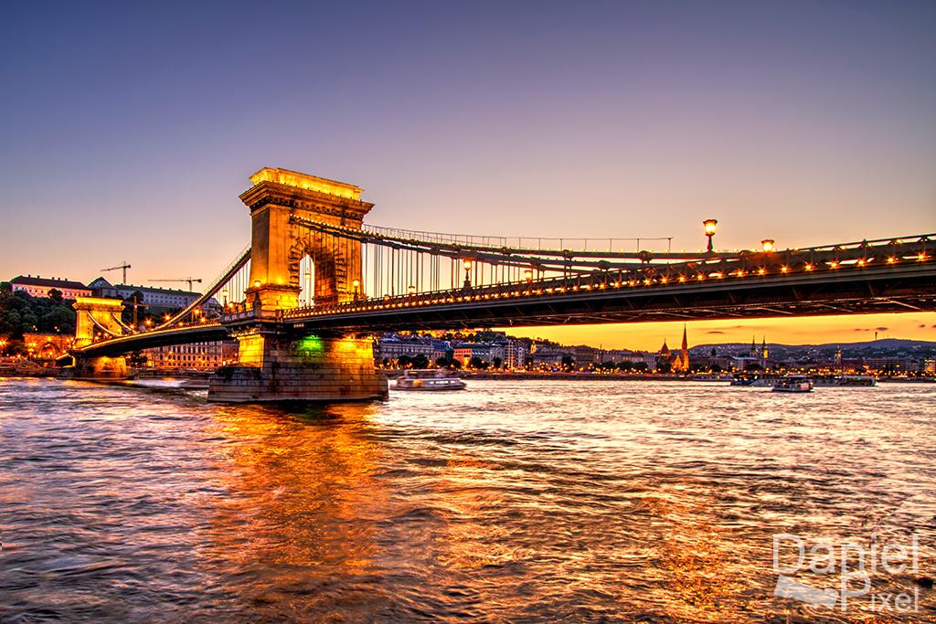 Budapest chain bridge at it's best