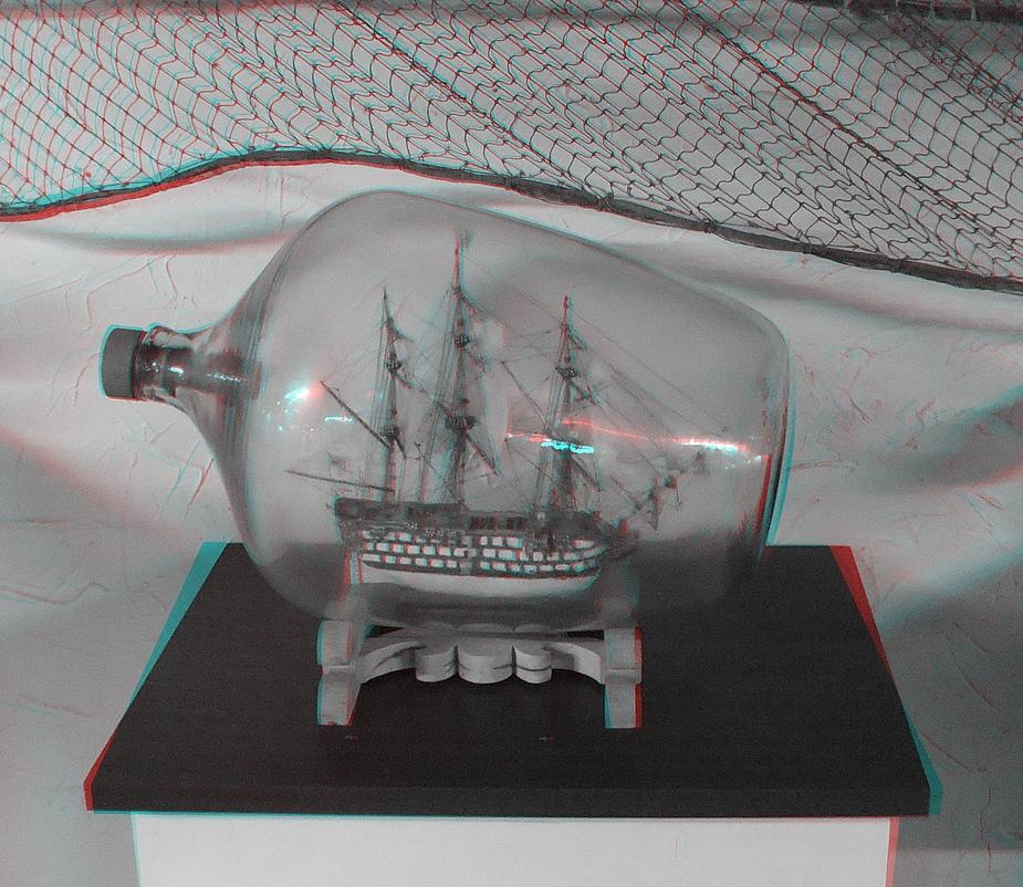 Buddelschiffmuseum Hamburg 3D-Brille!