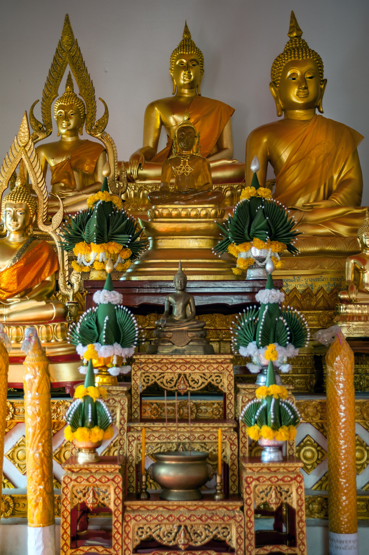 Buddha altar in Wat Luang Ubon Ratchathani
