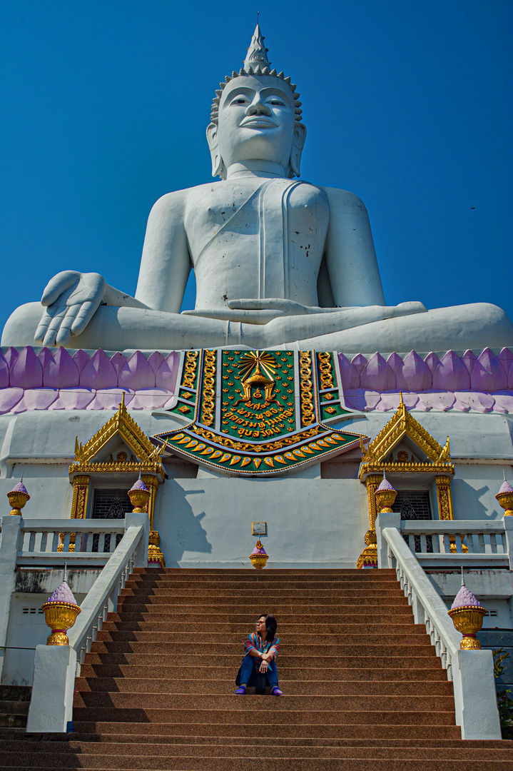 Buddha image at the hill top