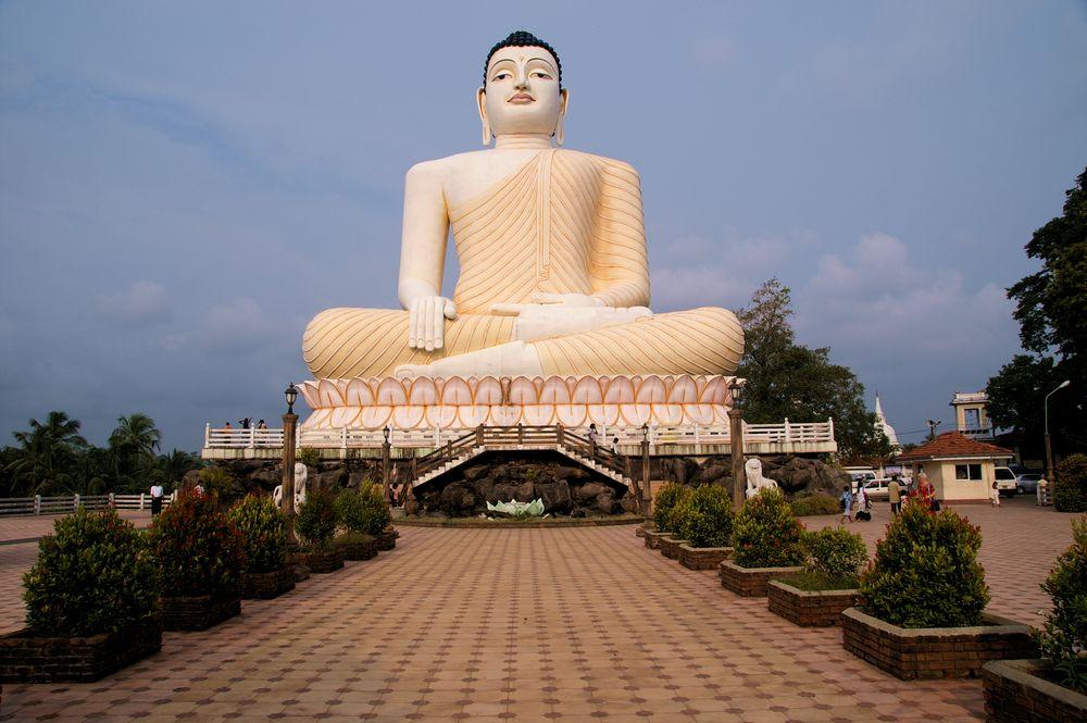 Buddha ruft die Erde als Zeugin an
